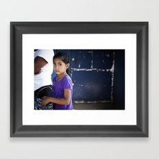 Bright Eyed Salvadoran Girl Framed Art Print