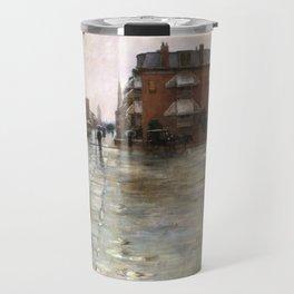 Rainy Day, Boston by Childe Hassam Travel Mug