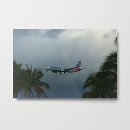 Prearing For Landing On Miami Airport Metal Print