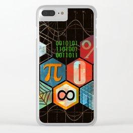 Math Game in black Clear iPhone Case