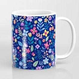 """Cute Floral pattern in the small flower. """"Ditsy print"""". Vintage. Coffee Mug"""