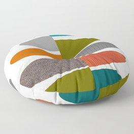 Mid-Century Modern Abstract Ovals Floor Pillow