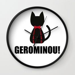 Geronimo + Cat = Gerominou Wall Clock