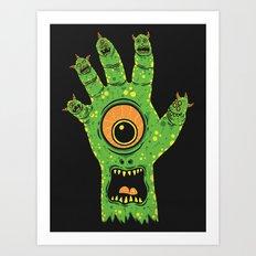 Finger Monsters Art Print
