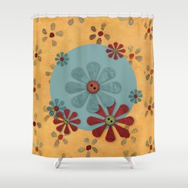 Country Flowers Shower Curtain