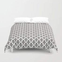 Damask Pattern | Black and White Duvet Cover