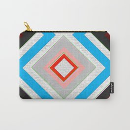 Black Blue Red Pink and White Small Diamond Textured Minimal Simple Pattern Home Goods Carry-All Pouch