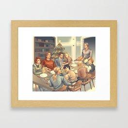 A very Supernatural Christmas Framed Art Print