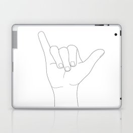 Minimal Line Art Shaka Hand Gesture Laptop & iPad Skin