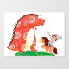 Knight vs Monster Canvas Print