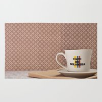 colombia Area & Throw Rugs featuring Café de Colombia  by Caroline Mint