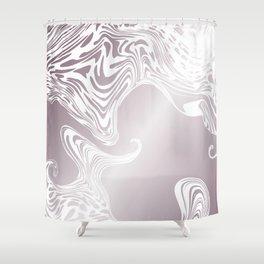 Rose Gold Liquid Marble Effect Design Shower Curtain