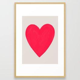 Big Neon Heart - Hot Pink Framed Art Print