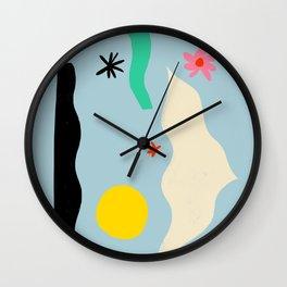 FLOWER EYES Wall Clock