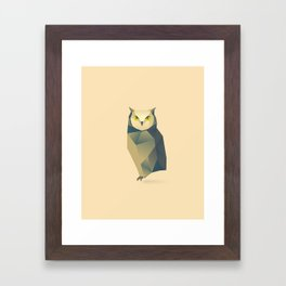 Geometric Owl - Modern Animal Art Framed Art Print