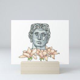 Pink Floral Antiquity Mini Art Print