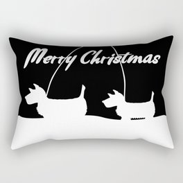 Westie White Christmas Rectangular Pillow
