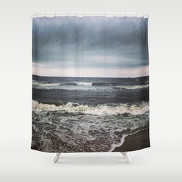 Crashing Shower Curtain