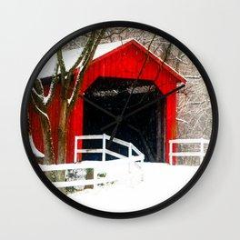 Sandy Creek Cover Bridge Wall Clock