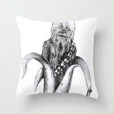 Chewbacca banana Throw Pillow