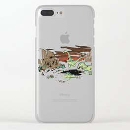 Tar Pit Painting Clear iPhone Case