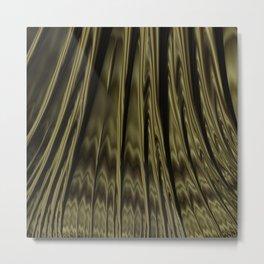 Gold and Black Fractal Metal Print