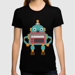 Retro Vintage Robot Kids Funny Cute Gift T-shirt