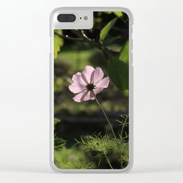 Pink and shadows Clear iPhone Case
