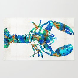 Blue Lobster Art by Sharon Cummings Rug
