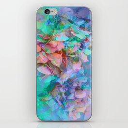 Pastel Abstract Hydrangea iPhone Skin
