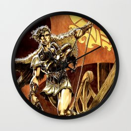 Ray Harryhausen Presents: Jason and the Argonauts- Kingdom of Hades by Mike Grell Wall Clock