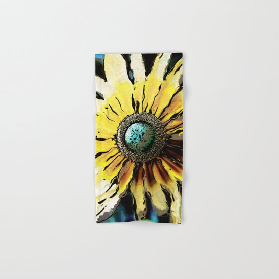 Golden Daisy Flower Hand & Bath Towel