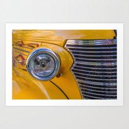 front of a 1940 chevrolet car Art Print