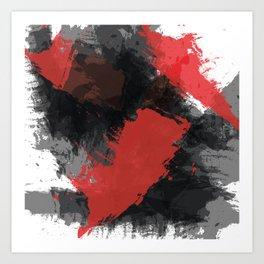Red and Black Paint Splash Kunstdrucke