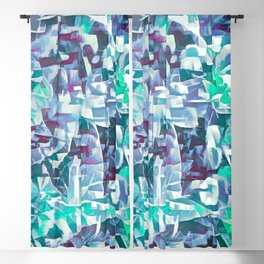 Purple Cyan Forest Abstract Blackout Curtain