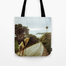 Surfer Boy, Cardiff, California Tote Bag