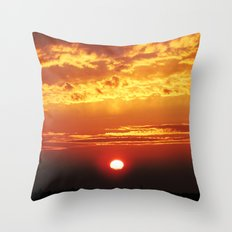 MM - Sunset of the city Throw Pillow