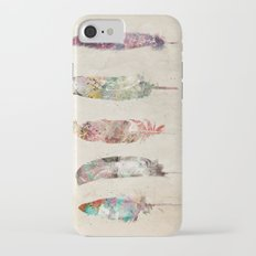 pop art feathers iPhone 7 Slim Case
