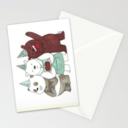 We Bare Bears inspired Birthday Party - Panda, Ice Bear, Grizzly Bear Stationery Cards