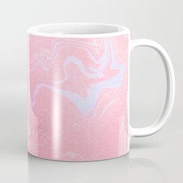 Marbled Effect with Pink Coffee Mug