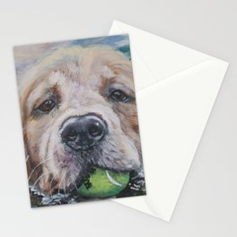 GOLDEN RETRIEVER dog portrait painting by L.A.Shepard fine art Stationery Cards