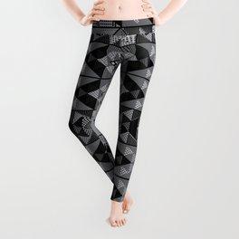 Kupe Black Geometric Leggings