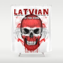 To The Core Collection: Latvia Shower Curtain