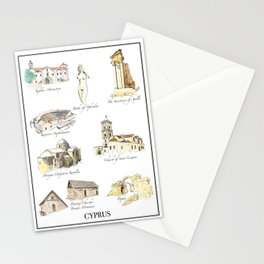 Best of Cyprus - Visit Cyprus through its most famous sites Stationery Cards