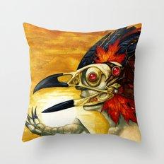 Raptor: Corvus Throw Pillow