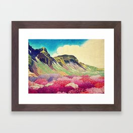 Walk towards Manayama Framed Art Print