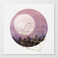 the moon Canvas Prints featuring moon by Laura Graves