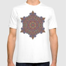 Blunt Physics. MEDIUM Mens Fitted Tee White