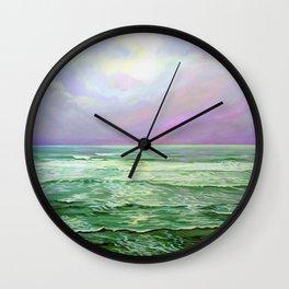 Wave Meditation by Amanda Martinson Wall Clock