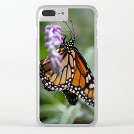 Monarch Danaus Plexippus Clear iPhone Case